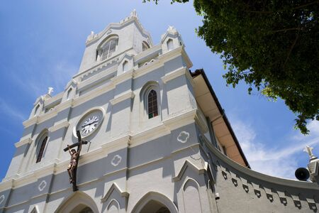 immaculate: Image of the Dutch era Church of Immaculate Conception at Kalutara, Sri Lanka. Stock Photo