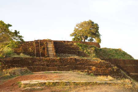 Image of UNESCO's World heritage site of Sigiriya (Lion's Rock), Sri Lanka. This is an ancient rock fortress and palace ruin built during the reign of King Kassapa I (477-495 AD). Stock Photo - 5909535