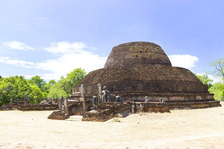 polonnaruwa: Image of the ancient Pabalu Vehera at Polonnaruwa, Sri Lanka. The Pabalu Vehera or Coral Shrine was built by one of King Parakramabahu's wives, Queen Rupawathi, around the 12th century AD. This is a UNESCO World Heritage site.