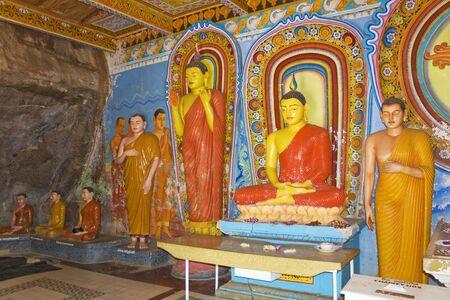 3rd ancient: Image of Buddha statues at the ancient 3rd century Isurumuniya Temple, Anuradhapura, Sri Lanka. This is a UNESCO World Heritage Site.