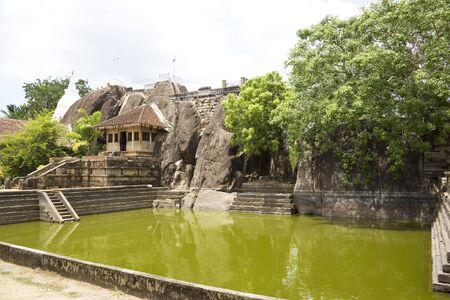 anuradhapura: Image of UNESCOs 3rd century World Heritage Site of Isurumuniya Temple, located at Anuradhapura, Sri Lanka.
