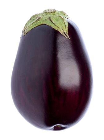 Isolated image of a fresh aubergine.