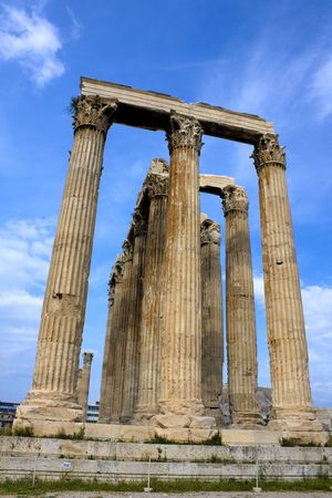 Image of the ancient Temple of Zeus, Olympia, Greece. photo