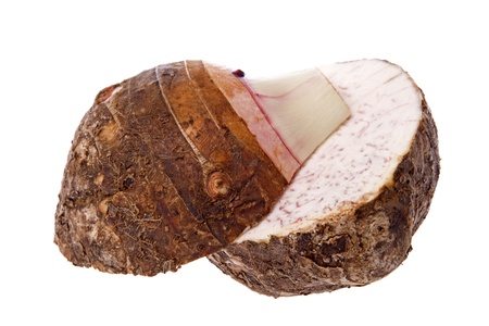 Isolated image of a yam.