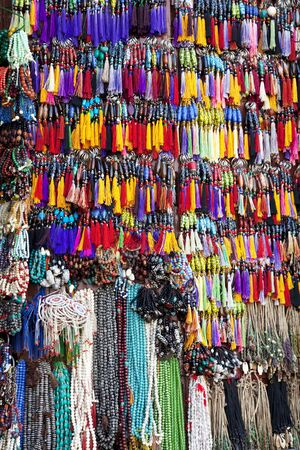 Image of traditional Nepalese beads handicraft for sale. Stock Photo - 8890079