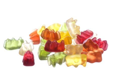 Gummy: Isolated macro image of gummy bears. Stock Photo