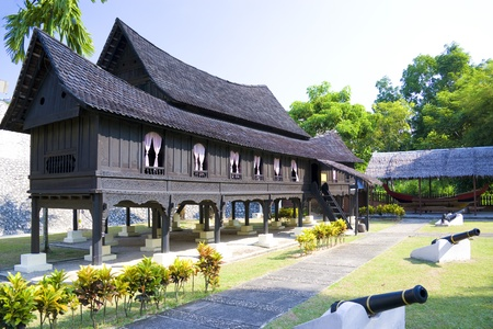 stilt: Image of a traditional Malay house.