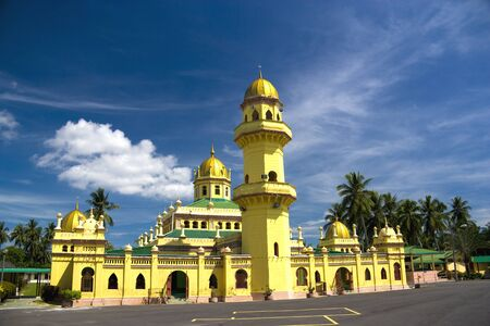 Over a century old Sultan Alaeddin Mosque, located at the old royal town of Jugra, Selangor, Malaysia.