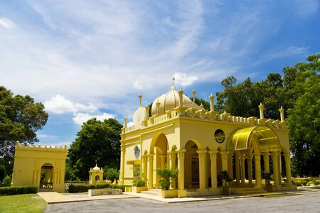 Over a century old Royal Mausoleum of Sultan Abdul Samad, the fourth ruler of the Malaysian state of Selangor, located at the old royal town of Jugra, Selangor, Malaysia. photo