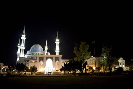 pahang: Image of Sultan Ahmad I Mosque at night, located at Kuantan, Pahang, Malaysia. Stock Photo