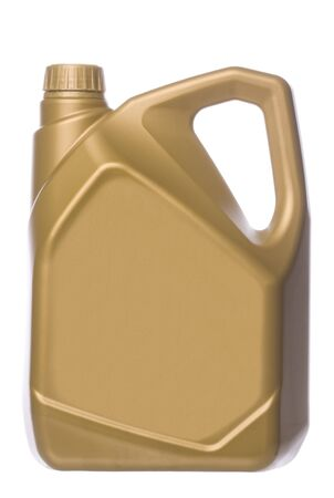 Isolated image of an engine oil can. photo