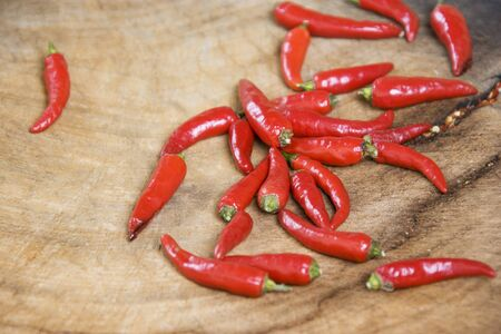 Image of red hot chillies used to make Chinese home made chilli sauce at Daxu Ancient Town, Guilin, China.  Stock Photo - 8891166