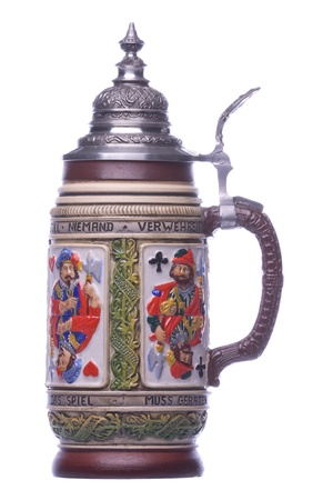 Isolated image of a German beer mug. photo