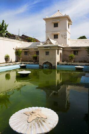 Image of royal bathing pools at Taman Sari Royal Water Park, Yogyakarta, Indonesia.