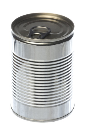 Isolated macro image of tin can.