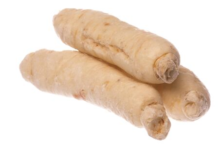 suger: Isolated macro image of suger ginseng roots.