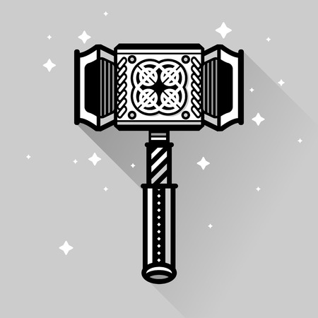 antiquities: Ancient old berserk thor norh blood hammer