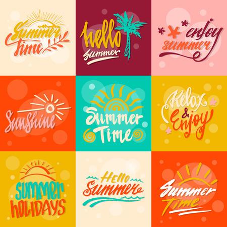 Hello Summer callygraphy