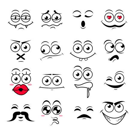 Happy sumbol emoji icons vector illustration