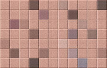 Brown Jahrgang Quadrat Mosaik abstrakten Hintergrund der Wand