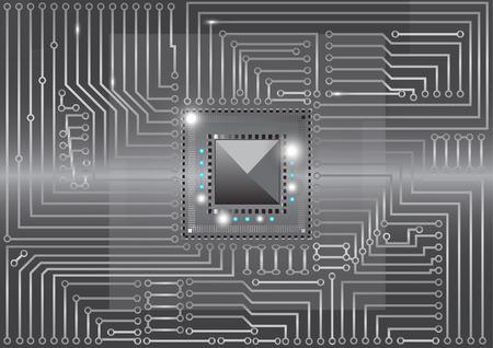 circuitos electronicos: Met�lica circuitos electr�nicos de la placa ilustraci�n