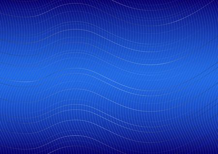 curved lines: Curved lines on blue background, illustration