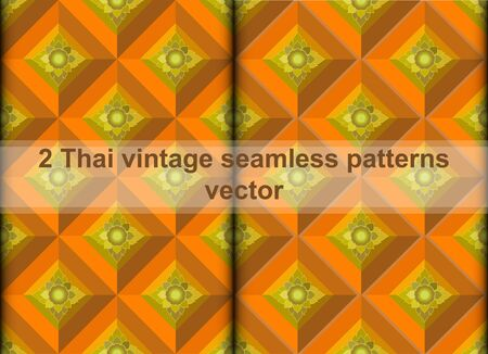 swatch: Thai vintage seamless pattern vector abstract background, with seamless pattern in swatch Illustration
