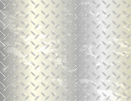 dirty sheet: Grunge dirty metal sheet background, vector illustration
