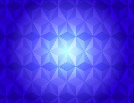 illuminated: Blue geometric gradient illuminated pattern abstract background, vector illustration