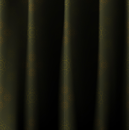 wrinkle: Thai vintage wrinkle curtain, vector pattern abstract background