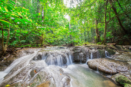 manora: Waterfall at Sa Nang Manora Forest park in Phangnga province, south of Thailand