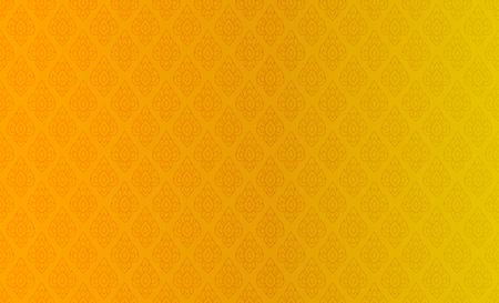황금 태국어 빈티지 패턴 벡터 추상적 인 배경