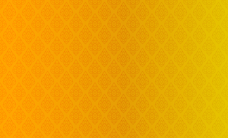 Golden Thai vintage pattern vector abstract background Banque d'images