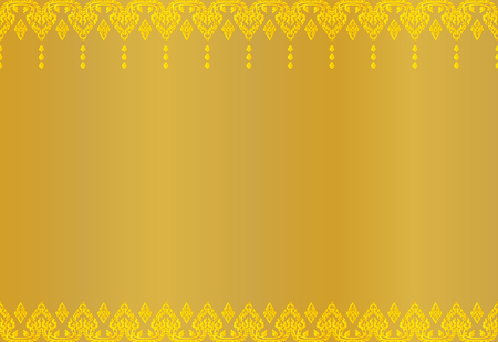 Thai golden vintage pattern abstract background, vector illustration. Ilustração