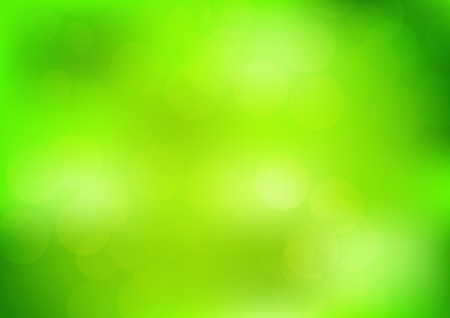 Blurred green nature bokeh background vector illustration Illustration