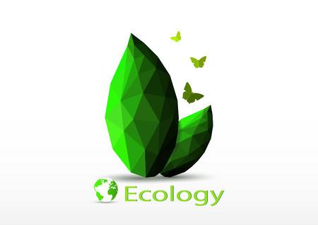 Green world ecology environmental concept vector illustration