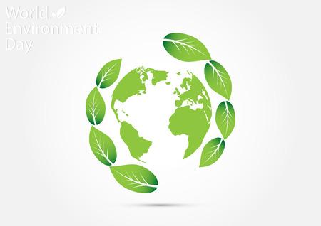 World environment day concept vector illustration Illustration