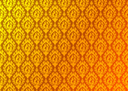 Thai golden vintage pattern vector abstract background