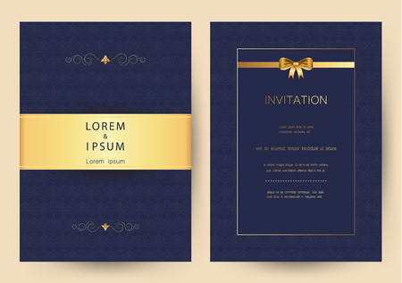 Luxury golden vintage wedding, invitation, celebration,greeting,congratulations cards vector pattern background template Ilustrace