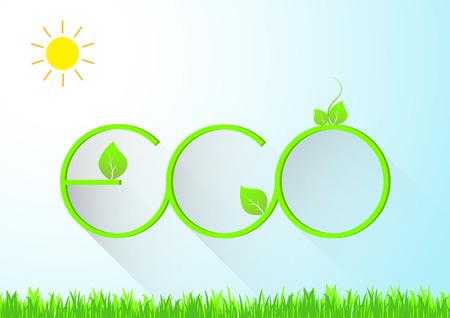 Green Eco concept vector illustration Ilustracja