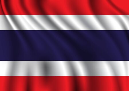 Waving Thai national flag texture abstract background vector illustration 일러스트