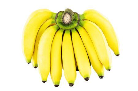 Fresh banana cluster isolated on white background