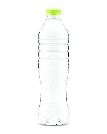 Plastic drinking water bottle on white background Stock fotó