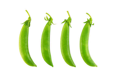 Fresh green beans isolated on white background Stock fotó - 151367090