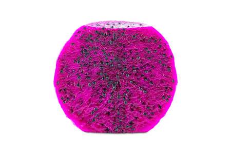 Peeled half fresh pink dragon fruit isolated on white background Stock fotó