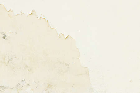 Peeling paint on old grunge white dirty concrete wall texture abstract background Stock fotó - 151367254