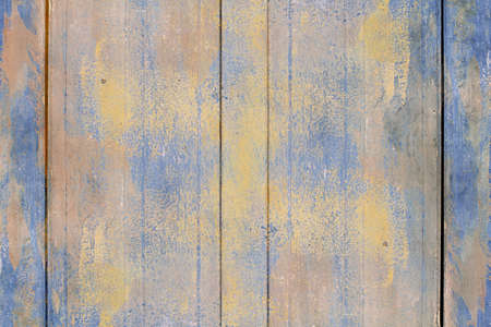 Old grunge dirty scratched vintage blue wood texture abstract background