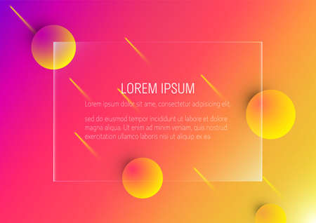 3d neon color abstract geomatric bubble shapes background for landing page template vector illustration Stock fotó - 155311191