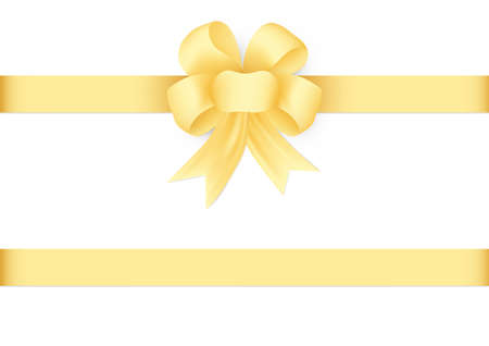 Decorative golden bow with ribbon vector illustration Illusztráció