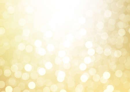 Soft blurred shiny golden sparkling glittering bokeh abstract background vector illustration